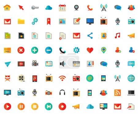 Trendy Multimedia icons