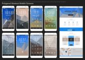 Abstract geometric mobile bakgrounds mockup pack
