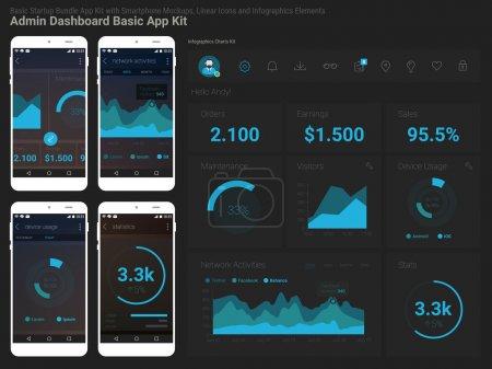 Responsive Admin Dashboard UI mobile app