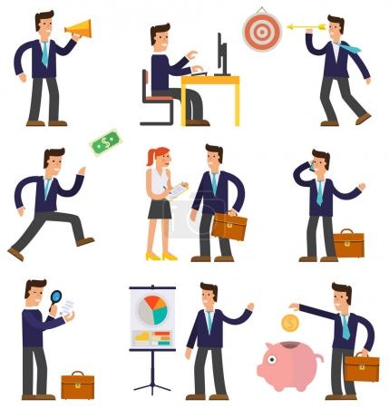 Cartoon Character Successful Businessmen