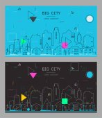 Big city patterns with abstract elements
