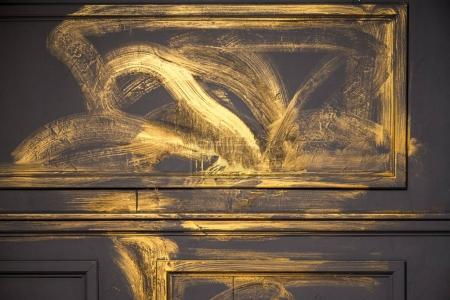 Gold and grey interior