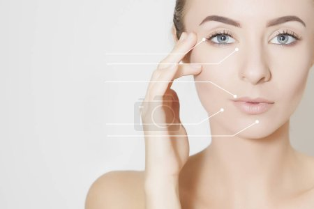 skin lifting, beauty concept