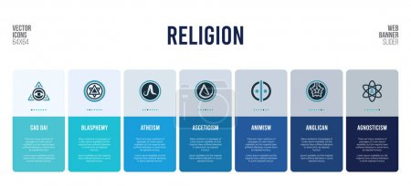 Web banner design with religion concept elements....
