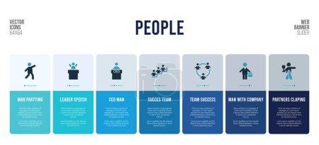 conception de bannière Web avec des éléments de concept de personnes .