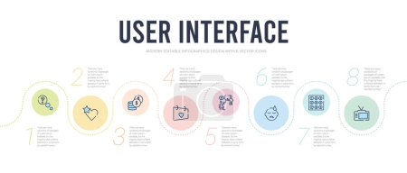 User interface concept infographic design template...