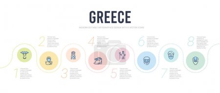 greece concept infographic design template. included socrates, a