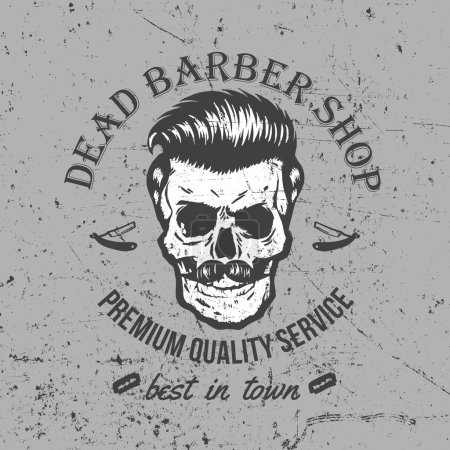 Illustration for Vintage Skull Label Design. Easy to manipulate, re-size or colorize. - Royalty Free Image