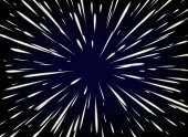 Star Warp or Hyperspace with free space in the center light of moving stars concept