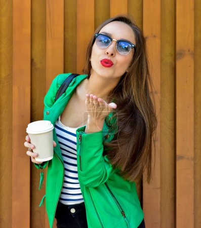Fashion portrait stylish pretty woman
