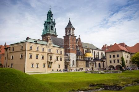 10 July 2017,Krakow - Wawel castle at day,Wawel hill with cathed