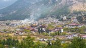 Thimphu capital city of Bhutan Valley country