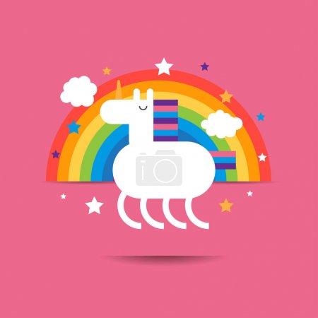 Cute  funny unicorn.