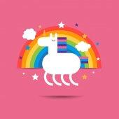 """Постер, картина, фотообои """"Cute funny unicorn. """""""
