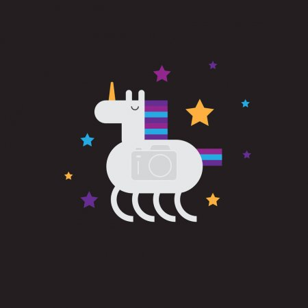 Cute funny unicorn