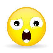 What emoji Shock emotion Wtf emoticon Cartoon style Vector illustration smile icon