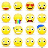 Emoji set Emoticon set Cartoon style