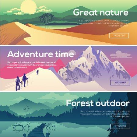 Illustration for Design illustration for web design development, landscape graphics. - Royalty Free Image