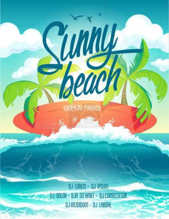 Poster surf beach party