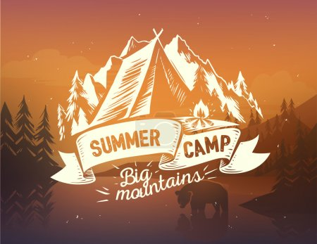 Summer camp typography design