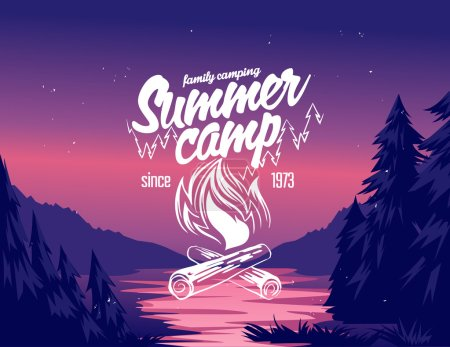 Summer camp typography