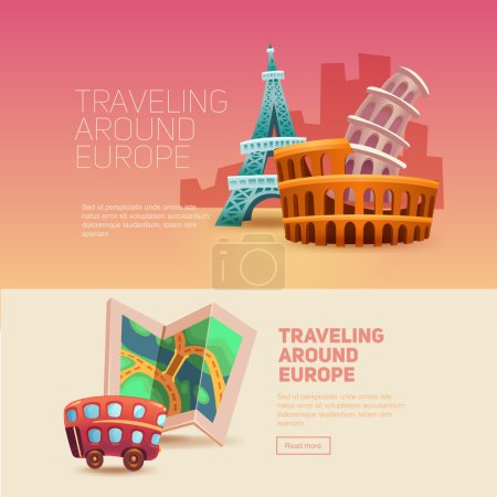 Illustration for Traveling around europe. Journey. Holiday. Photo. - Royalty Free Image