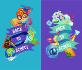 abstract school items