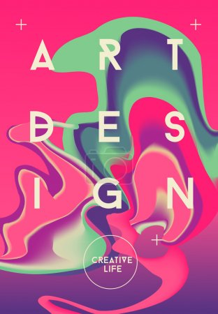 Color abstract poster.