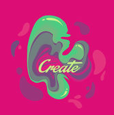 Isolated cute abstract liquid inks Modern style trends Background for banner card poster identityweb design Red