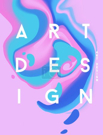 Illustration for Color abstract poster. Creative life. Liquid inks. Modern style trends. Background for banner, card, poster, identity,web design. - Royalty Free Image