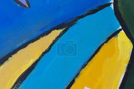 Photo pour Esprit jeune avec des formes abstraites et fond texturé grungy. Culture de rue avec des graffitis modernes peints à la main pour l'affiche de la galerie, bannière modèle. Beaux-arts urbains Design de mode jeune . - image libre de droit