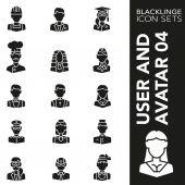 Premium stroke icon set of jobs professionals workforce and employee 04 Blacklinge modern black symbol collection