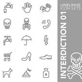 Linelinge interdiction 01 Thin line icon sets