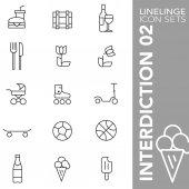 Linelinge interdiction 02 Thin line icon sets