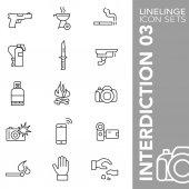 Linelinge interdiction 03 Thin line icon sets