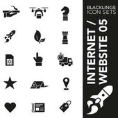 High quality black and white icons of website internet and commercial Blacklinge are the best pictogram pack unique design for all dimensions and devices Black vector graphic logo symbol and website content