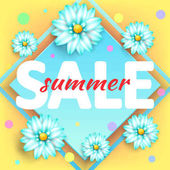 Summer sale background layout banners Voucher discount Vector