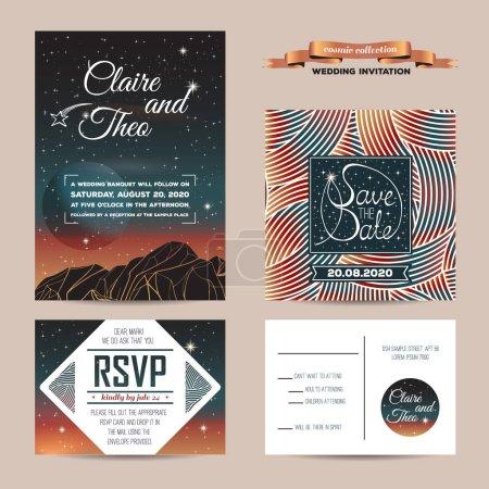 wedding invitation. cosmic design