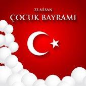 23 nisan cocuk baryrami Translation: Turkish April 23 Children's Day Vector illustration