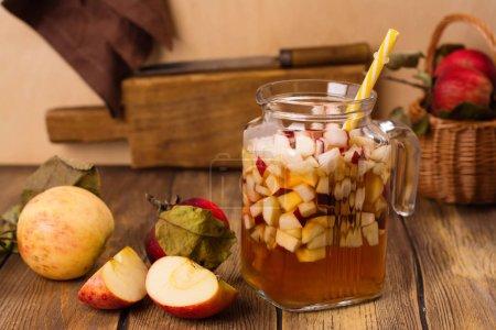 sangria in glass jar