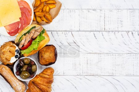 Photo for Compulsive eating or eating disorder concept. Copy space - Royalty Free Image