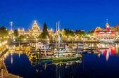 Night View of Victoria Inner Harbour, British Columbia, Canada