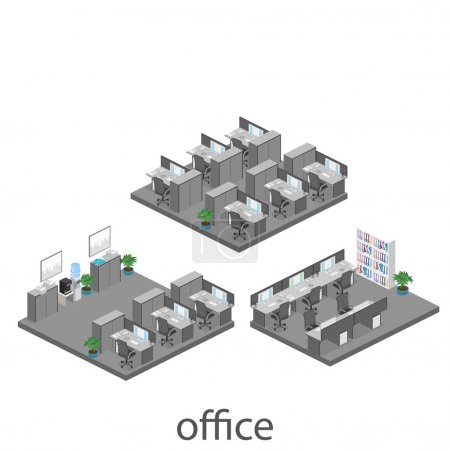 abstract office floor interior departments