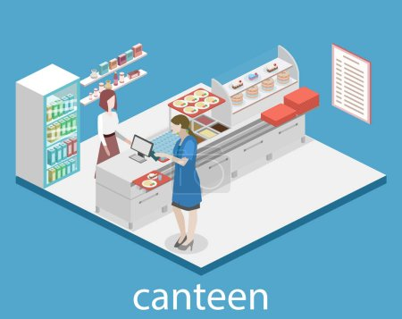 Interior of a coffee shop or canteen.