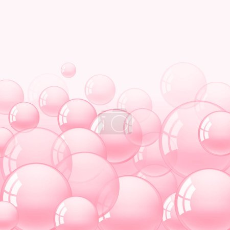 Background with pink bubble gum