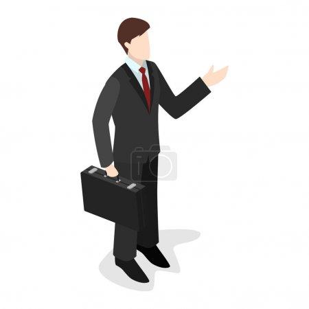 concept  set of businessman