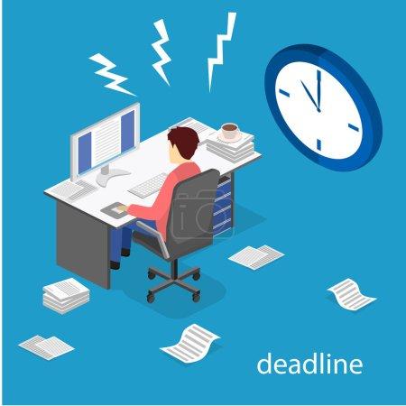 Deadline Concept of overworked man
