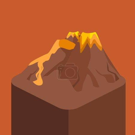 Volcano landscape icon