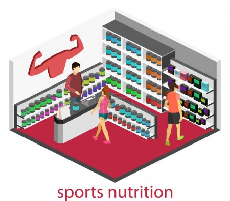 Sports nutrition store