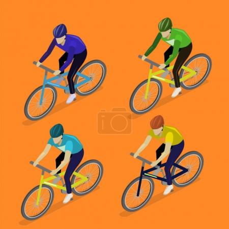 group of men riding bicycles